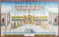 the mughal rulers, the house of timur, seated on a terrace by anonymous-indian (19)