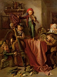 musizierende kinder by eduard ritter
