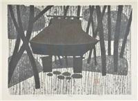gio-ji, autumn, kyoto by kiyoshi saito