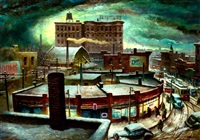 winter night, chicago by robert addison