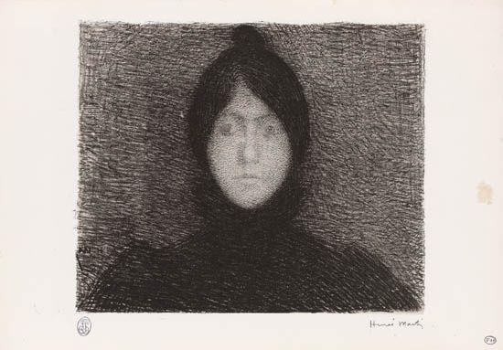 indécision from lalbum des peintres lithographes femme couronnée c 1899 smllr 2 works by henri jean guillaume martin