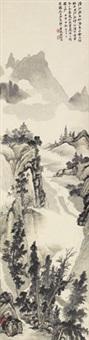 山水 立轴 设色纸本 by liu kansheng
