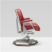 rare executive office chair from price tower, bartlesville, oklahoma by frank lloyd wright