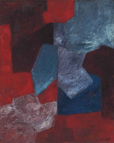 composition bleue rouge et mauve by serge poliakoff