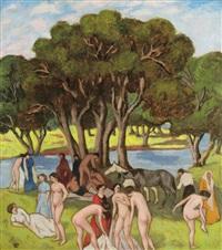 bathers by béla kádár