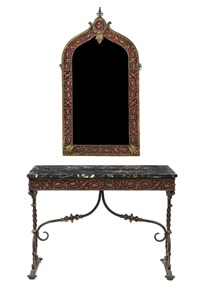 console table and mirror by oscar bruno bach