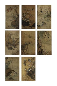 birds and flowers (hwajo) (8 works) by anonymous-korean (19)