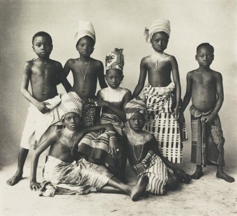 dahomey children by irving penn