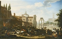 rome, a view of the campo vaccino by jacob de heusch