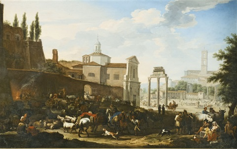 rome a view of the campo vaccino by jacob de heusch