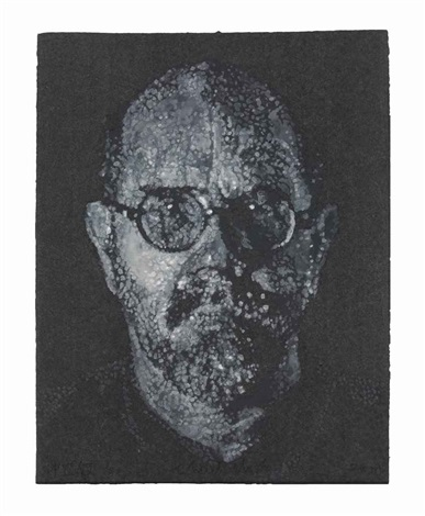 self portraitpulppochoir by chuck close