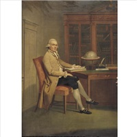 portrait of a gentleman in a library by david allan