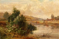 near sonning on thames by john horace hooper