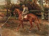 fantino a cavallo by alfredo vaccari