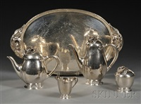 coffee and tea service (set of 5) by peer smed