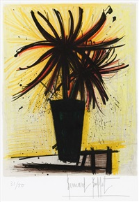 les chrysanthemes du japon (her bier) by bernard buffet