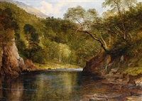 salmon fishing on the river awe by frederick richard lee