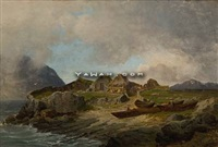 fiskehytter ved fagefjord, island by reinholdt fredrik boll