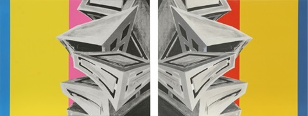 sense and sensibility (2 works) (diptych) by deborah kass