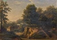 vue de la manufacture de sèvres des hauteurs de st. cloud by jean baptiste gabriel langlace