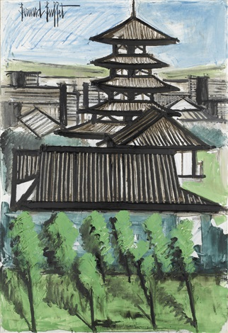 temple kofuku ji nara by bernard buffet