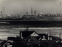 new york city scape, from new jersey by andreas feininger