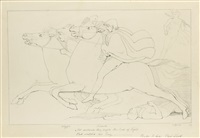 not un'observed they pass'd the god of light by john flaxman