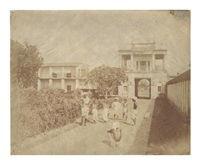 a group of 12 views in calcutta (set of 12) by frederick fiebig