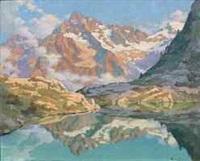 le miroir de l'olan, lac de pétarel (hautes alpes) by victor guerrier