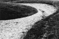 llyn goddyn, drovers road, wales; white horse abstract, ridgeway (2 works) by fay godwin