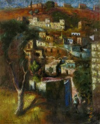 figure in a landscape by zvi adler