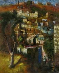 figure in a landscape by zvi adler