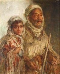 mendiant et enfant by edouard verschaffelt
