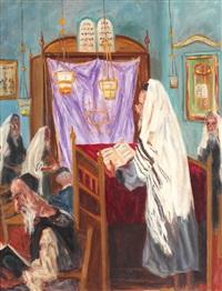 slujbă în sinagogă by aramov