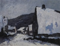 village sous la neige by elysée fabry