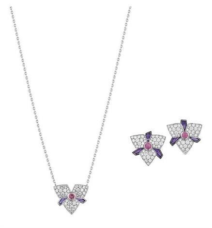 set of blossom jewelry 3 works by cartier