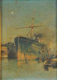 piroscafo nel porto by gennaro d' amato