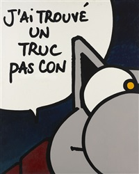un truc pas con (diptych) by philippe geluck