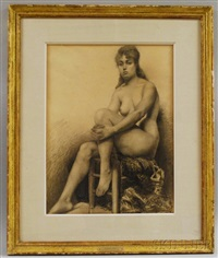 nude - knee in hand by ralph wormeley curtis