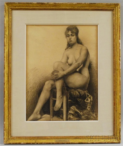 nude knee in hand by ralph wormeley curtis