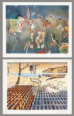 意識之海 sea of consciousness set of 2 by salvador dalí