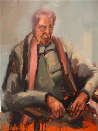 portrait with a scarf by scott mcmurdo