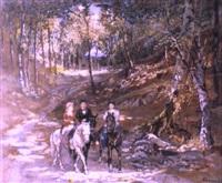 la promenade avec les montures by igor samsonov