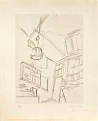 vision du lit et abat-jour by alberto giacometti
