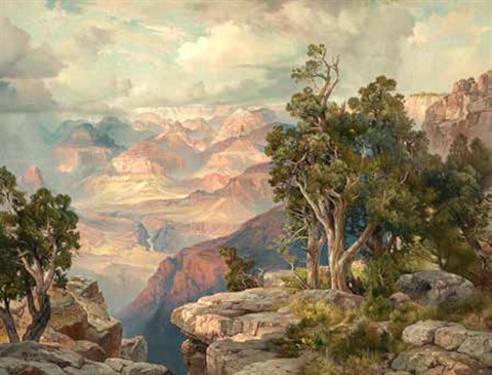 grand canyon of arizona from hermit rim road by thomas moran