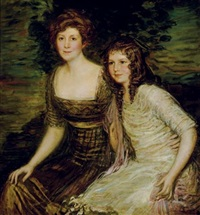 portrait of the wife and daughter of the governor of louisiana by lajos márk