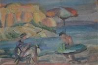 sur la plage by lou (lazar) albert-lazard