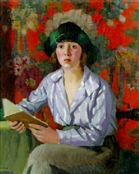 a girl reading by pierre adolphe valette