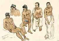fünf männer by josef selleny