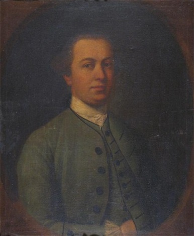 portrait of a gentleman wearing green by cosmo alexander